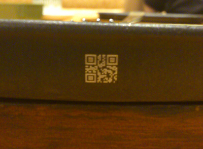 お皿にQRコード^^